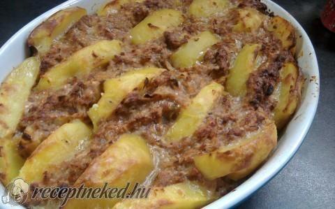 Vagdalt hús krumplival recept fotóval