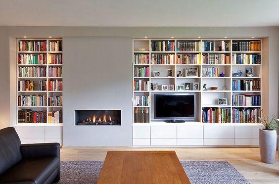 25 idee n die je leuk zult vinden over openhaard ingebouwde kasten op pinterest openhaard - Bibliotheques ontwerp ...