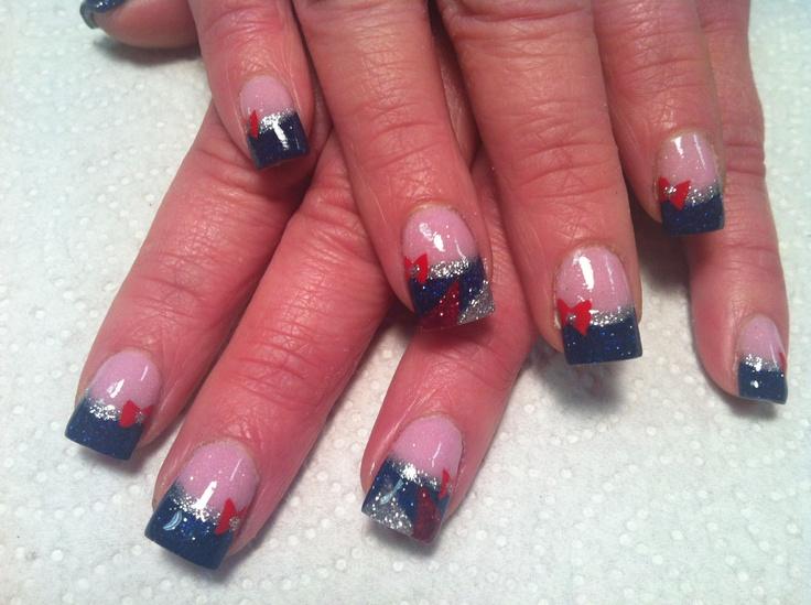 40 best Patriots Nails images on Pinterest   England patriots ...