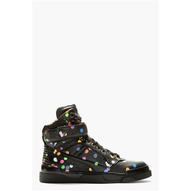 Givenchy Black Confetti Print Tyson Sneakers