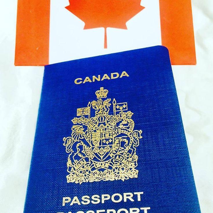 Canadian Passport Passeport Invitation ~ Canadian Flag Envelope - Hyegraph Invitations & Calligraphy