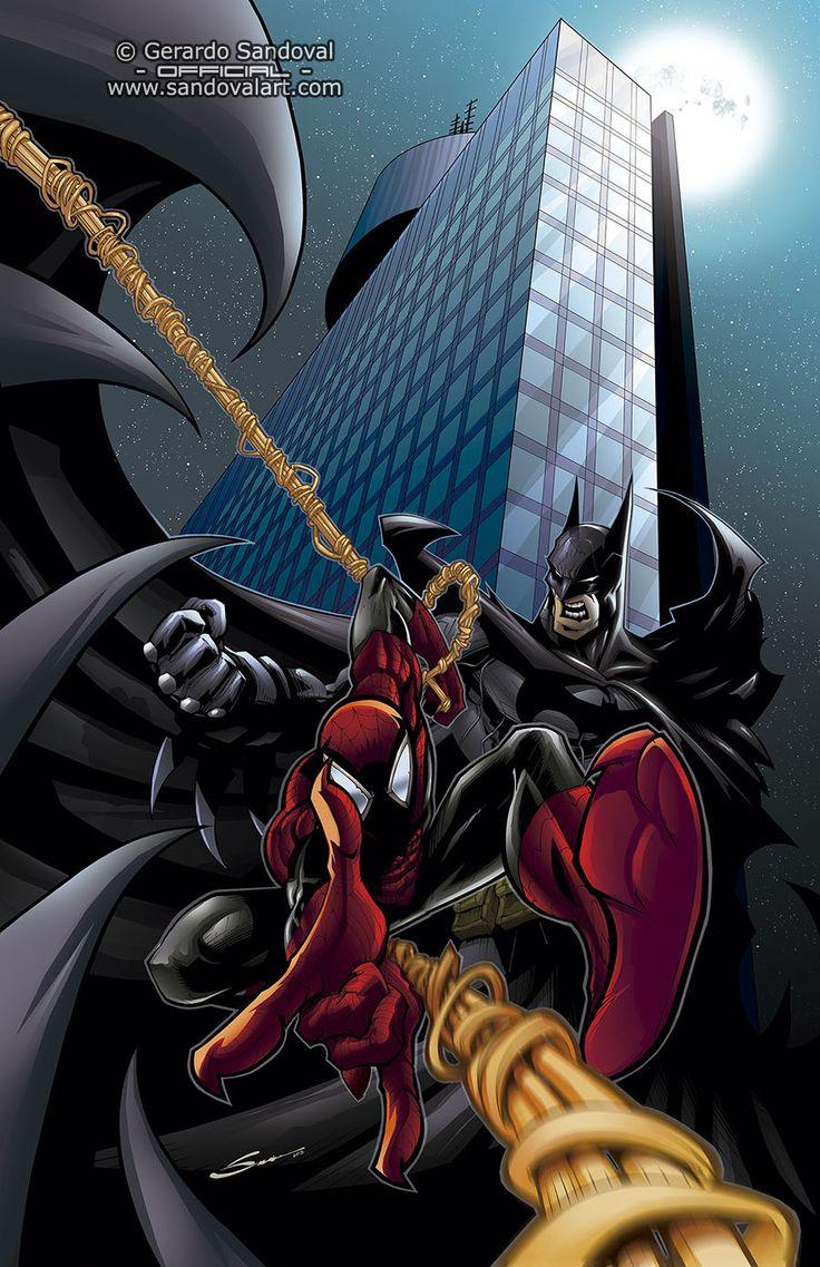Batman vs Spiderman by Gerardo Sandoval