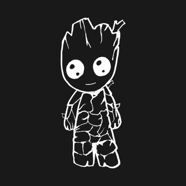 Check out this awesome 'Chibi+Baby+Groot+White' design on @TeePublic!