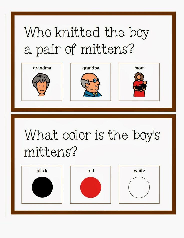 """The Autism Adventures of Room 83: """"The Mitten"""" By Jan Brett Activities!"""