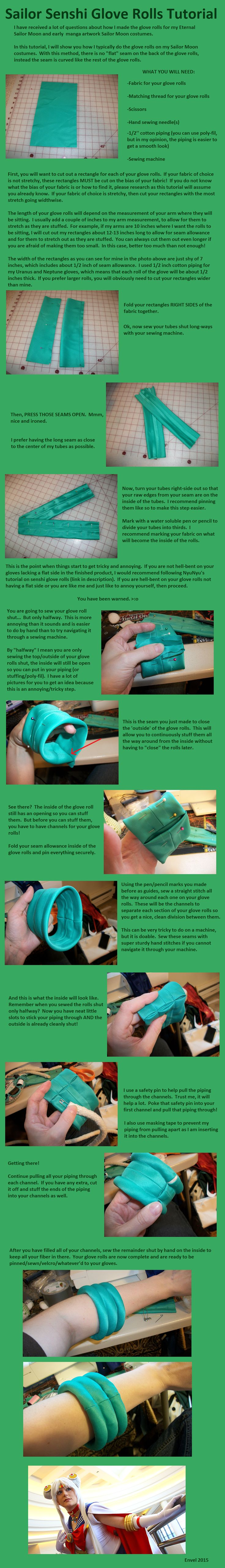 "Sailor scout ""glove roll"" tutorial! For making those ""cuffs"" on the gloves."