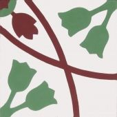 Zementfliesen von Articima: Zementfliese Nr. 242, rot, weiss