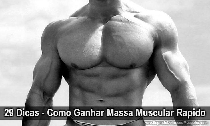 29 Dicas - Como Ganhar Massa Muscular Rápido → http://www.segredodefinicaomuscular.com/29-dicas-como-ganhar-massa-muscular-rapido/  #Hipertrofia