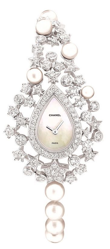 "Chanel Fine Jewellery ""Voie lactée"" watch in 18ct white gold"