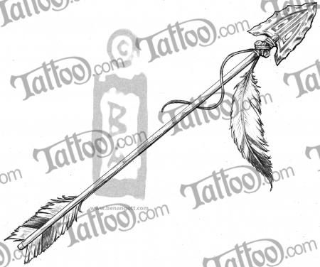 Indian Arrow Tattoos | Arrow and feather