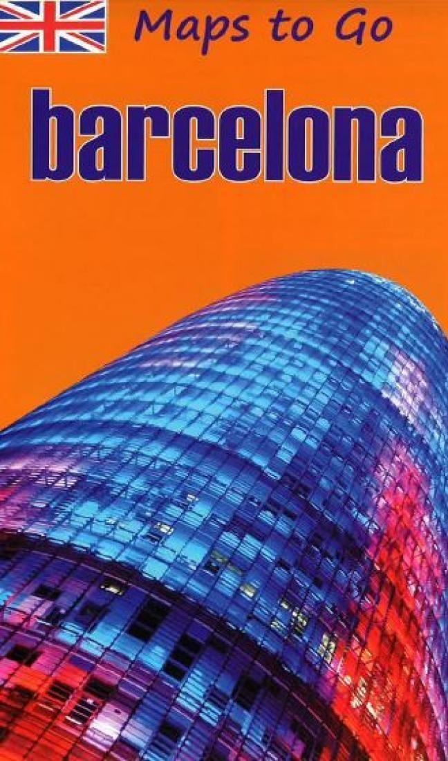Barcelona Tourist Map English Edition by Distrimapas