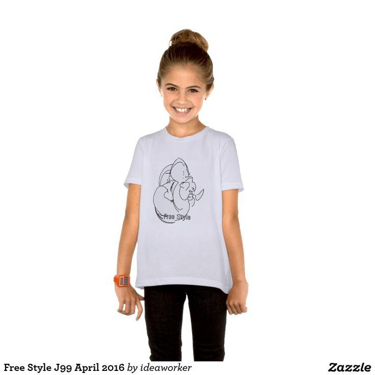 Free Style J99 Girls' Basic American Apparel T-Shirt   #design #fashion #freestyle #girl #tshirt