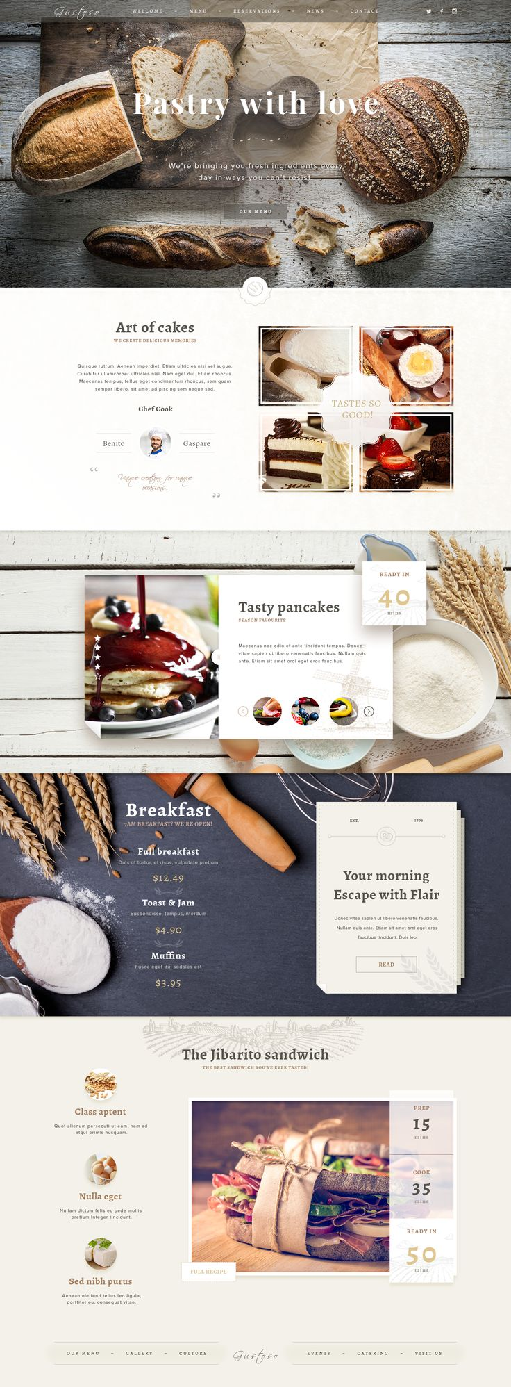 Top 25 Best Bakery Website Ideas On Pinterest Food
