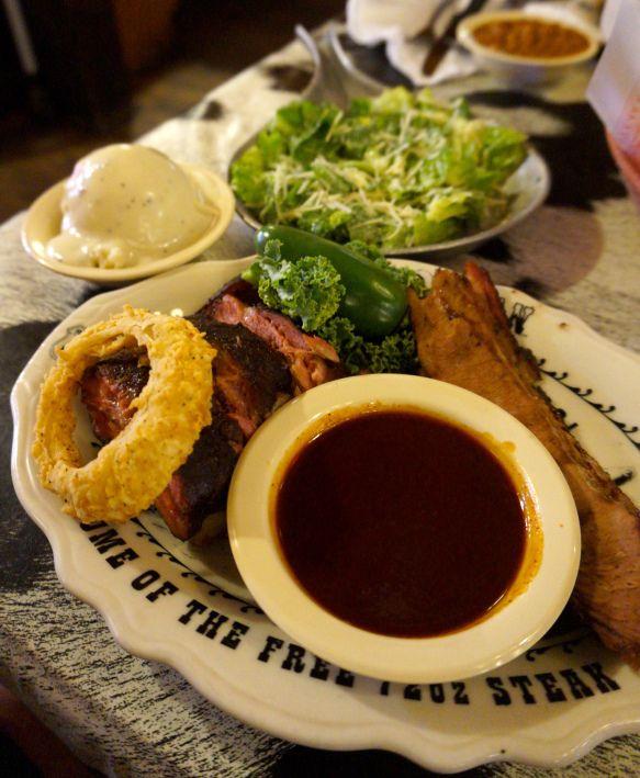 Refeição Texana em Amarillo no The Big Texan Steak Ranch