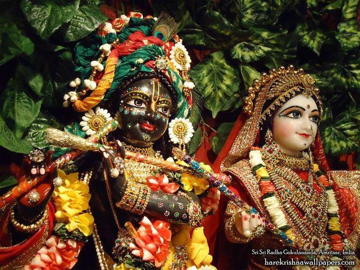 Sri Sri Radha Gokulananda Close up Wallpaper (013)