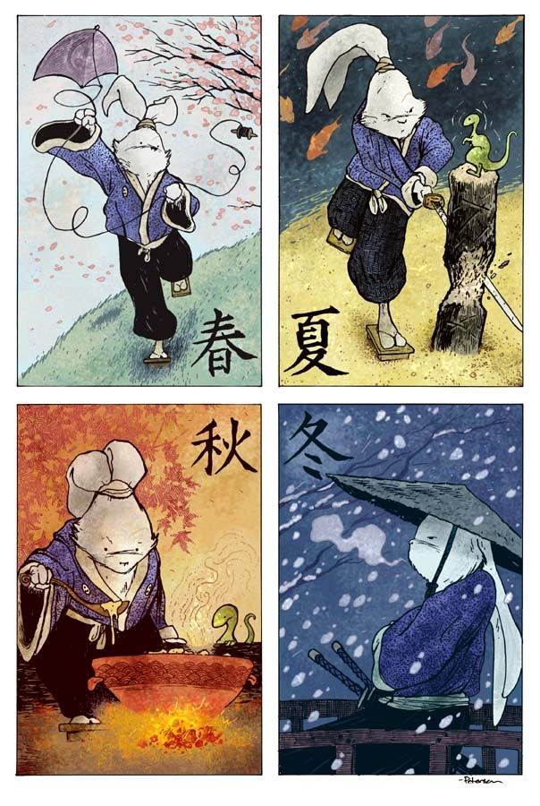 4 Seasons of Usagi Yojimbo - David Petersen