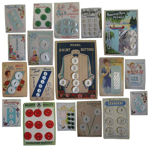 cajunmama:    Vintage Buttons for sale at The Crafty Squirrel (by The Crafty Squirrel)