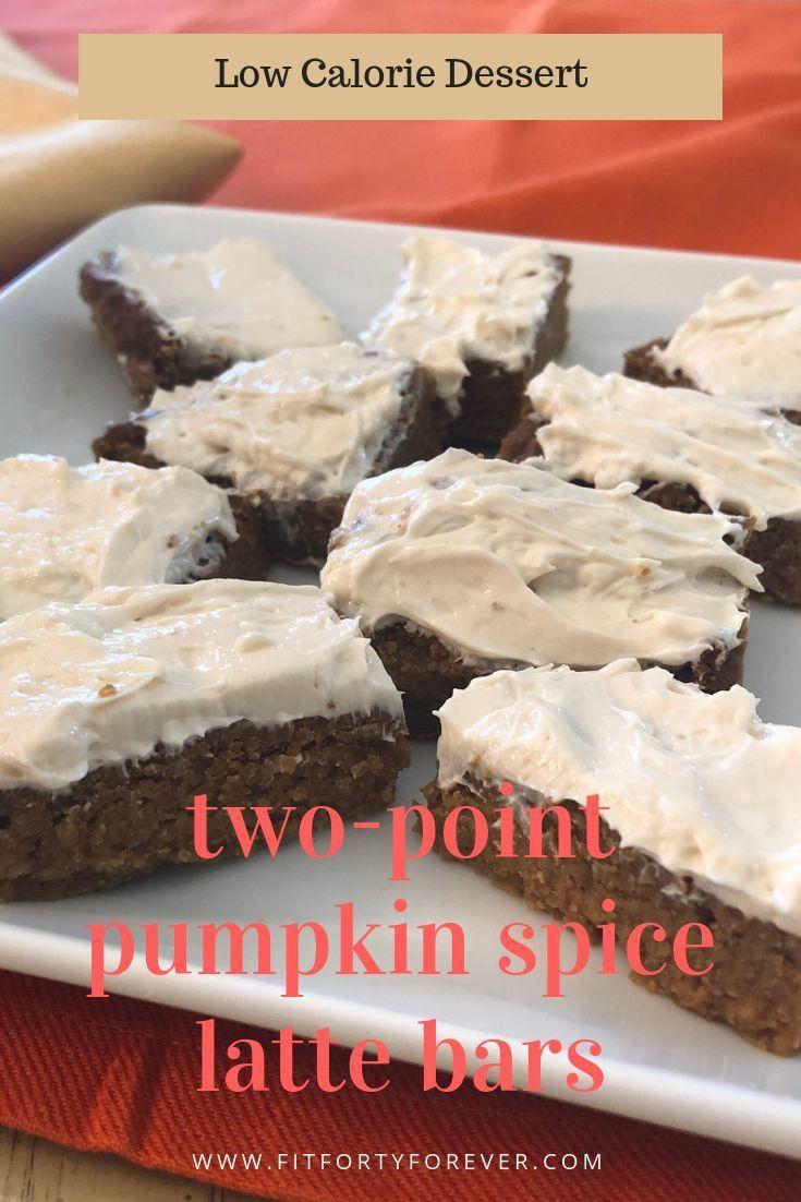 One Point Pumpkin Spice Latte Bars Recipe Low Calorie Desserts