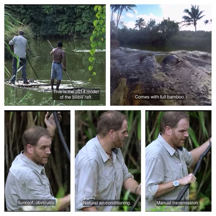 Josh Gates description of a bilibili raft, , Fiji Island, Expedition Unknown, Amelia Earhart (screen cap)