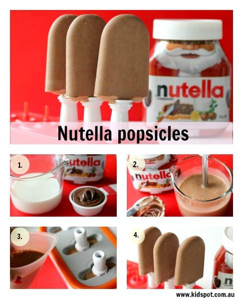 nutella popscicle easy 1 c half and half and1/3 C nutella!