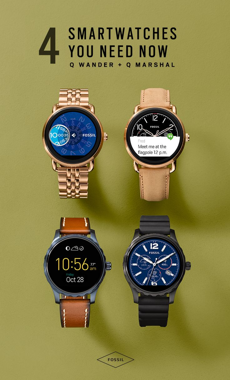 Meet the latest collection of smartwatch gadgets: Q Wander and Q Marshal. This new generation of touchscreen wearables blends stylish sensibility and technology—with a dash of curiosity. Choose between Q Wander's tan leather and gold-tone stainless steel versions for her, and Q Marshal's brown leather and silicone straps for him. Activity tracking, music control, and smartphone notifications are a few of our favorite things about these good looking wearables. Learn more about them here!