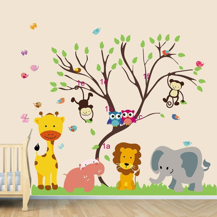 αυτοκόλλητο για βρεφικό δωμάτιο αγοριού με ζώα