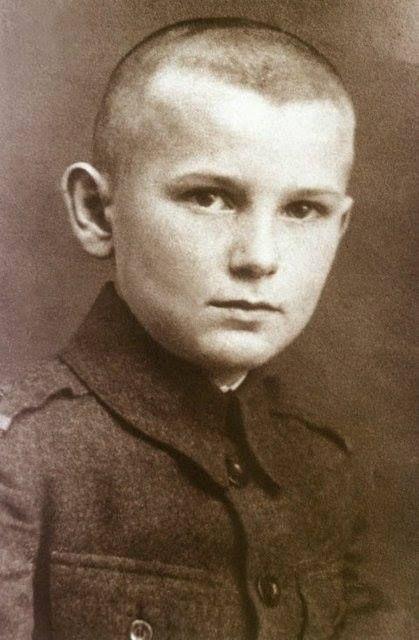 A very young John Paul II (Karol Wojtyla)
