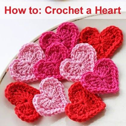 How to Crochet a Heart Step by step tutorial...