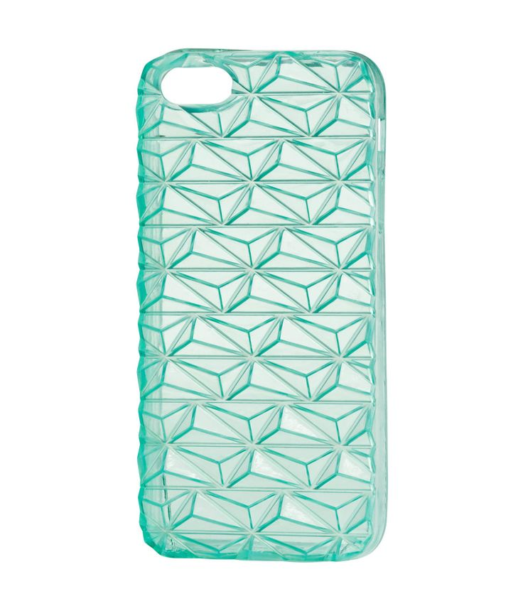 Mint green smartphone case with textured transparent