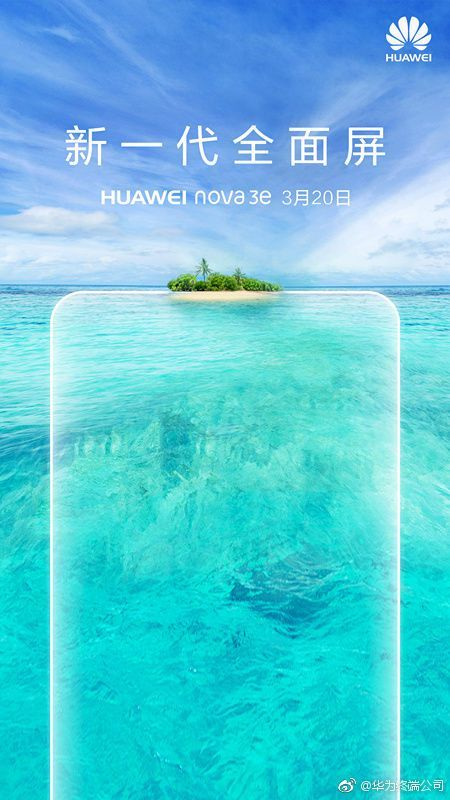 Huawei Nova 3e Launching on March 20 with Notch Design Dual Rear Cameras  The Huawei Mate 10 Lite smartphone was launched with in monikers like Maimang 6 Nova 2i and Honor 9i in different markets. In the same way it is speculated that the upcoming Huawei P20 Lite may debut in select markets as Nova 3e. The Chinese manufacturer has confirmed that the Nova 3e will be made official on March 20.  The launch invite of the Huawei Nova 3e not only confirms its launch date but also the Chinese text…