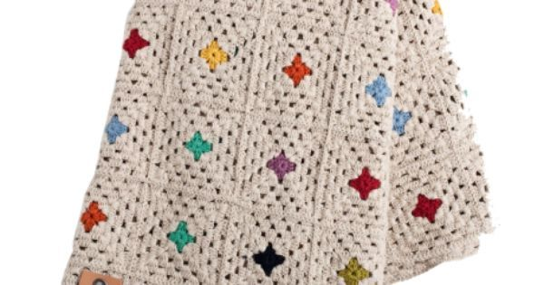 Simple granny square afghan idea