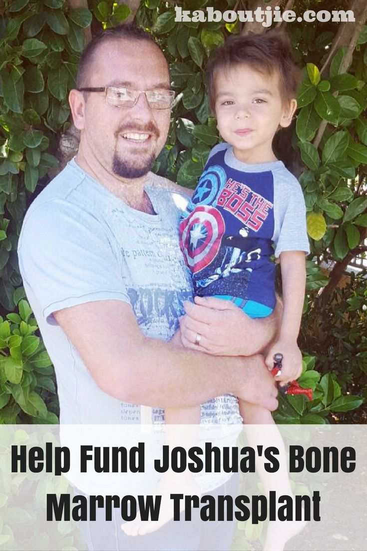 Joshua is just two years old and has to have a bone marrow transplant which is going to cost R300 000 – I look at my life and it just puts everything into perspective for me. I have no problems and I am so grateful for everything I have, and I managed to spare R100 to help with Joshua's campaign.