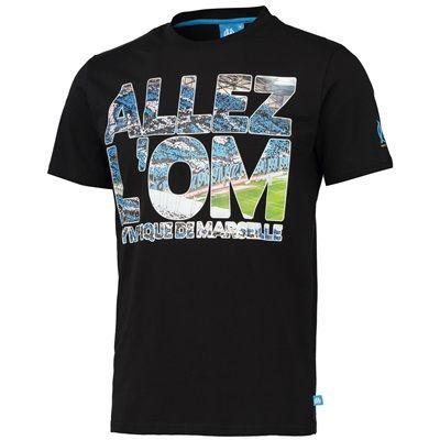 Olympique de Marseille Stadium Graphic T-Shirt - Black - Mens