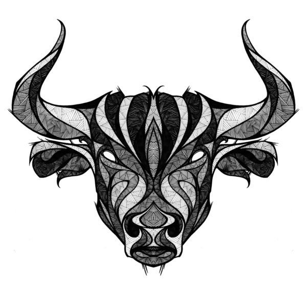 Image result for geometric bull head
