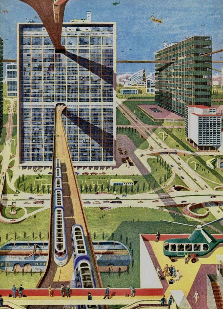 pin by empty projects on atomic aged futuristic city retro futurism future city pinterest