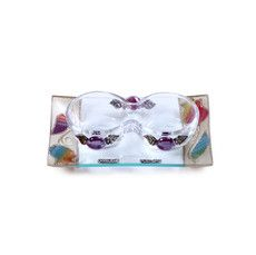 Small Shabbat Tea Light Set with Multi Coloured Flower Design and Tray