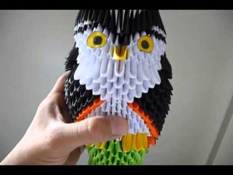 3D origami owl on a perch tutorial - YouTube