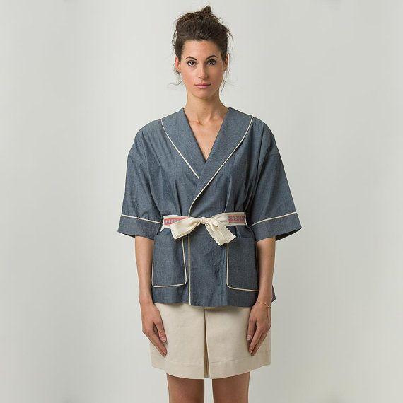 Modello Armida  Giacca kimono in chambré di di unagoinunpagliaio