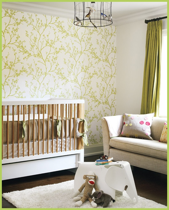 Green nursery.  Future big boy room to share with a new baby bro or sis... whenever that time comes...
