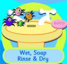Wet, Soap Rinse and Dry