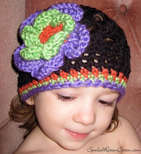 Halloween Inspired Crochet Beanie Hat, Halloween Hat, Halloween, Halloween Crochet, Halloween Crochet Hat, Baby Hat, Crochet Baby Hat