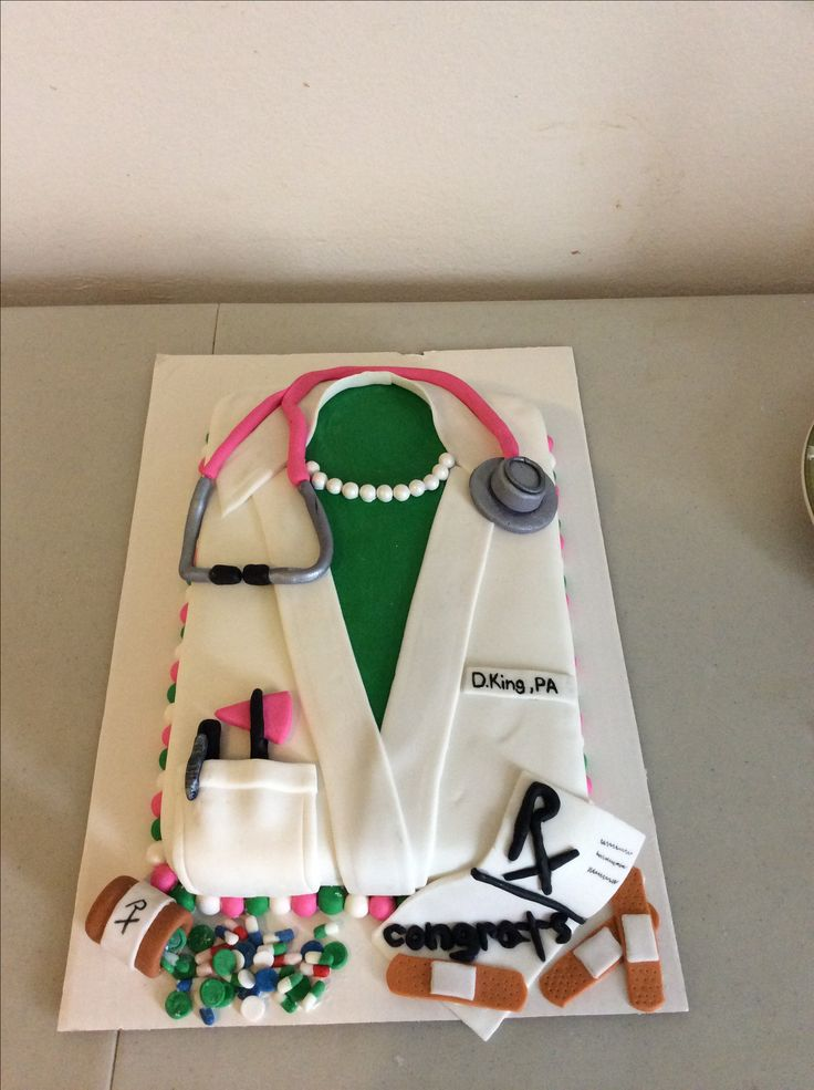 White coat cake (physicians assistant) http://www.meddybear.net/
