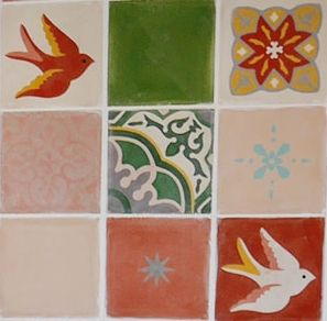lovely tiles in the dining room