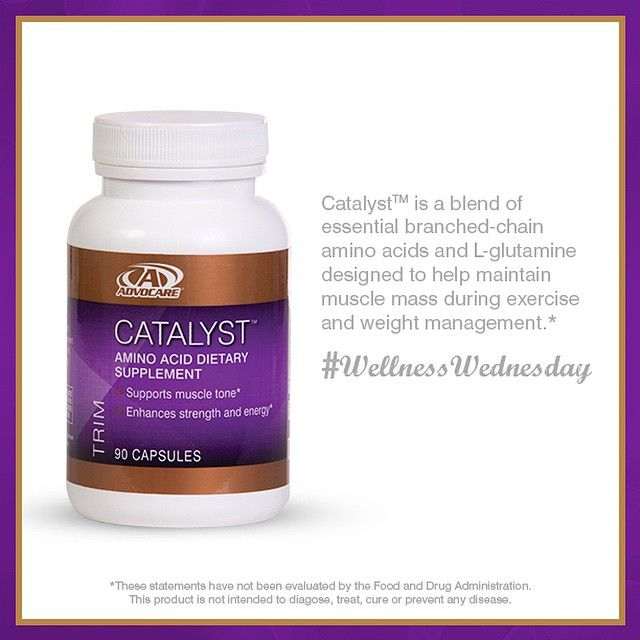 Catalyst™ provides a blend of essential branched-chain amino acids and L-glutamine to fuel your body with the muscle-building components it needs.* And is also a Home Office favorite!