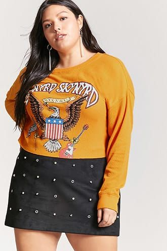 a9a9ba44f2e9 Plus Size Lynyrd Skynyrd Graphic Crop Top | Products | Pinterest ...