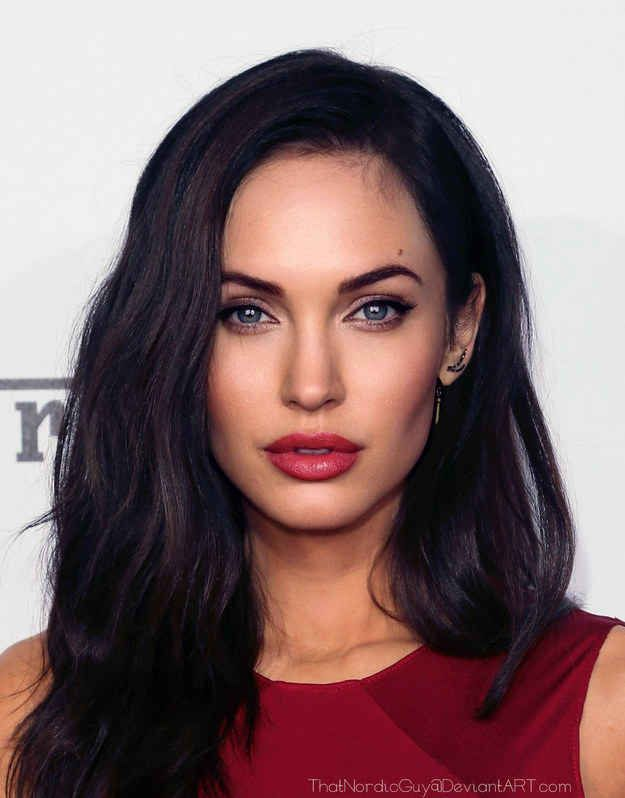 18 Celebrities Morphed Into Stunningly Perfect People.   (Megan Fox / Angelina Jolie)