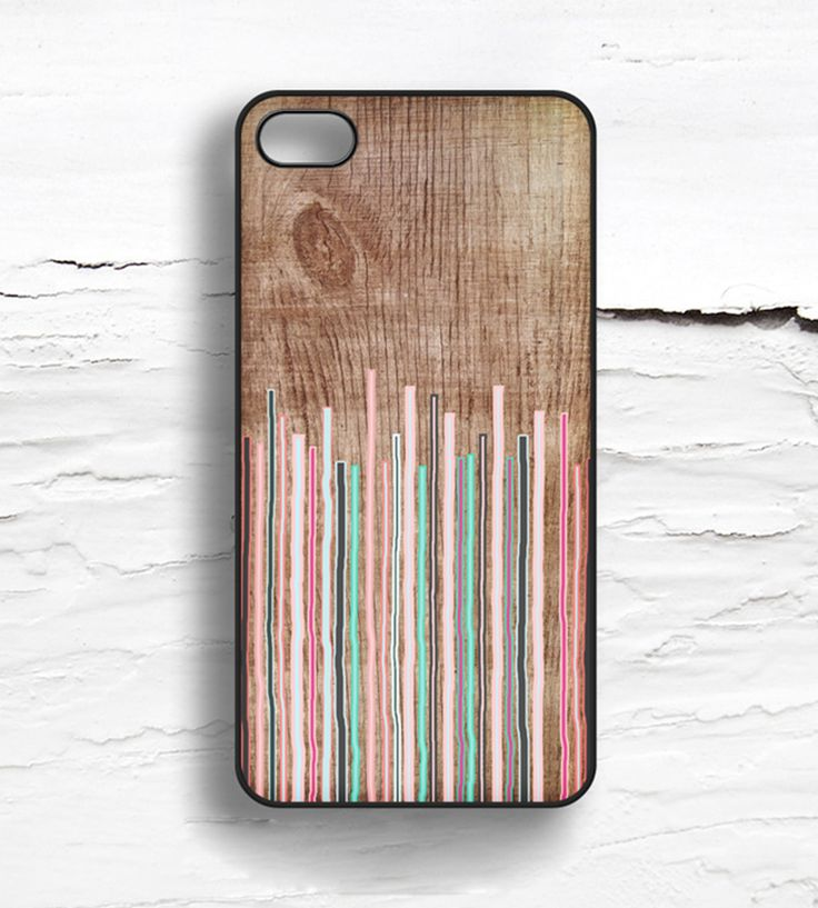 Stripes & Faux Wood iPhone Case