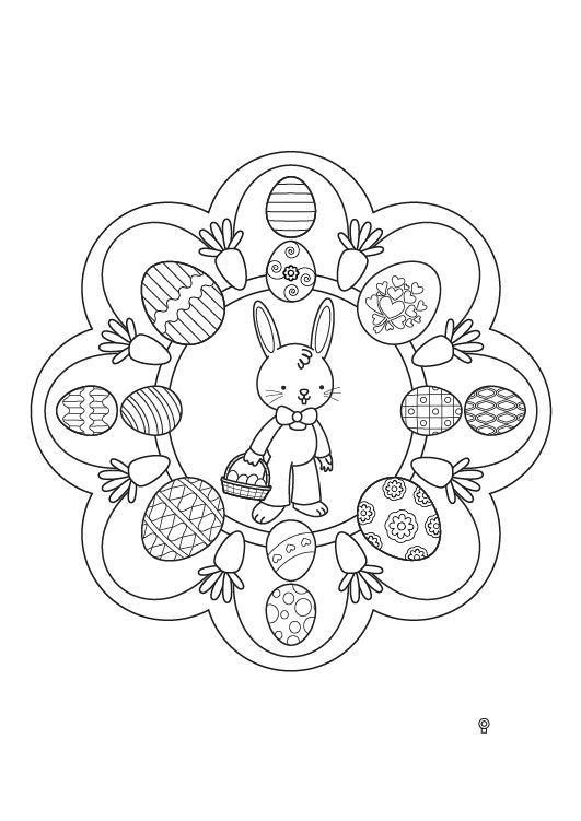 Mandala de Pascua: dibujo para colorear e imprimir   Mandala ...