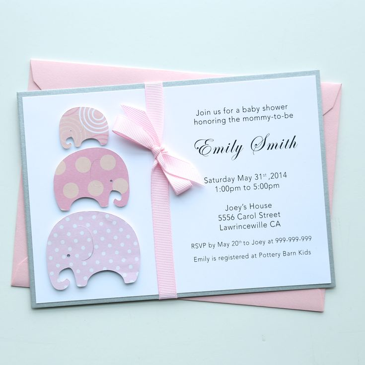 Handmade Baby Shower Invitation