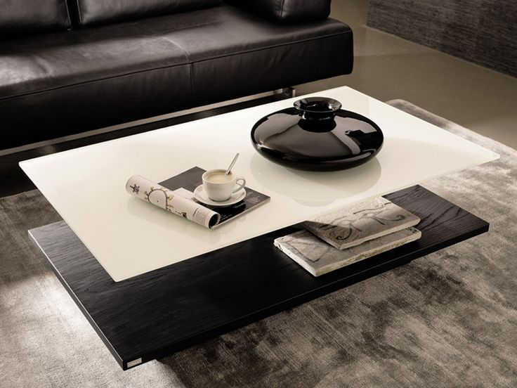 Modern Coffee Tables With Height Adjustable Glass Top   CT 110 By Huelsta