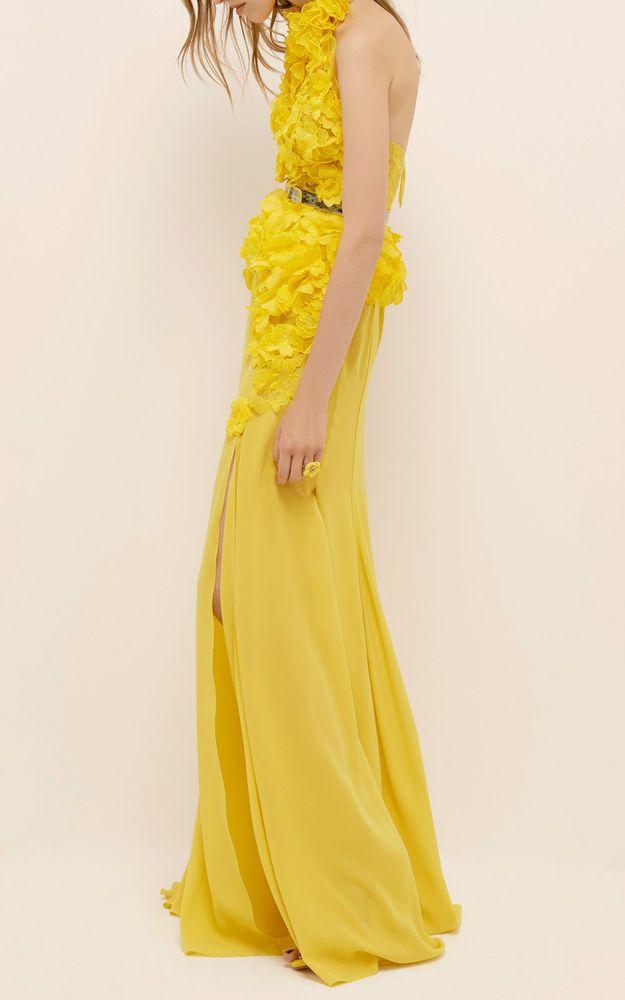 Nina Ricci Woman Twist-front Two-tone Satin Midi Dress Orange Size 36 Nina Ricci X6RnJCw